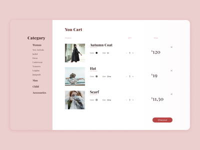 Shoping cart 058 design minimal web design daily 100 challenge ui dailyuichallenge dailyui shop web cart shoping cart