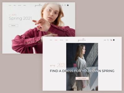 Pavietra - Online Shop web design website minimal mainpage redisign e-commerce shop