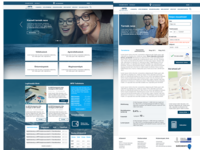 MFB banking website redesign concept