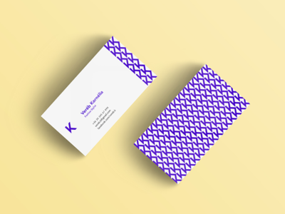 vk business card by zsuzsanna petrovics dribbble