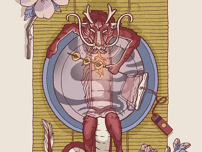 InkUp - Traditions holidays character digital psd dragon drawing illustration photoshop food cartoon red animal