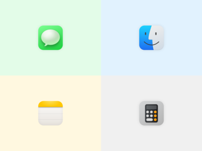 Big Sur icons created on Figma apple ios macos minimal illustration vector icon dribbble ui ux ui design figma design