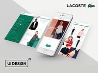 Lacoste App UI Design