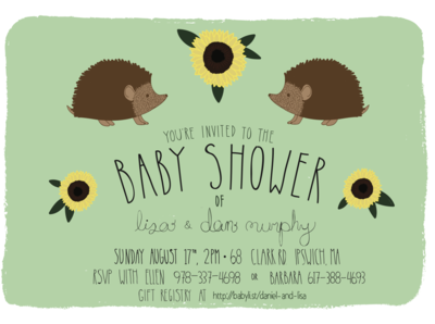 Baby Shower Invite by Emily Small