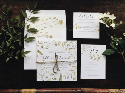Organic Wedding Suite by Emily Small