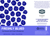 Freshly Blued Can Label by Emily Small