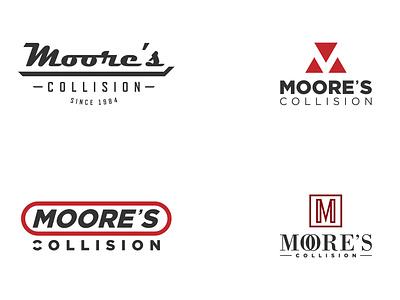 Moore's Collision - Logo Design Options minimal branding vector logodesign logo icon design