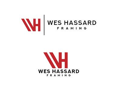 Wes Hassard Framing - Logo Design minimal branding vector logodesign logo icon design