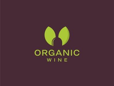 Unique logo for an organic wine shop.