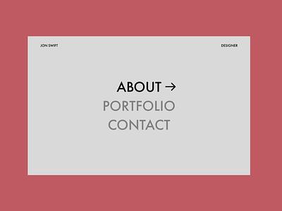Portfolio Landing Page simplistic website web ux ui minimal flat design