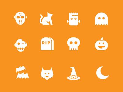 Halloween Icons - Free halloween jason mask cat frankenstein ghost skull wolf witch bats moon pumpkin