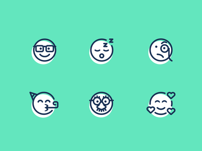 Smileys font awesome love nerd disguise icon emoji