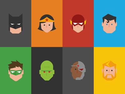 Justice League Icons year of icons superhero superman batman wonder woman dc icon