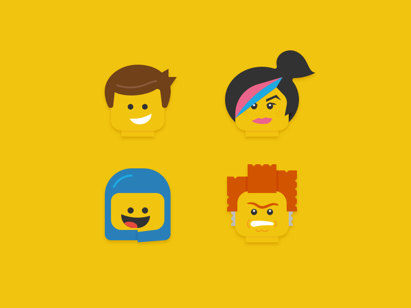 Lego Movie Icons by Jory Raphael - Dribbble