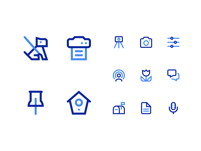 Symbolicons Pro - Line Duotone stroke vector line hollow icons symbolicons