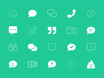 Chat Category smileys conversation icons chat font awesome
