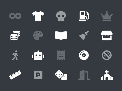 Most Requested Icons church store icons gas pump robot infinity skull font awesome