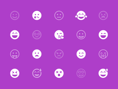 Emoji Category frown font awesome smiley emoji icons