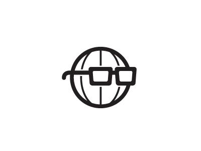 Sensible World logo world globe glasses