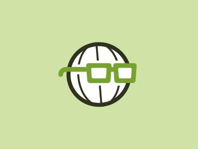 Sensible World sensible world logo globe glasses