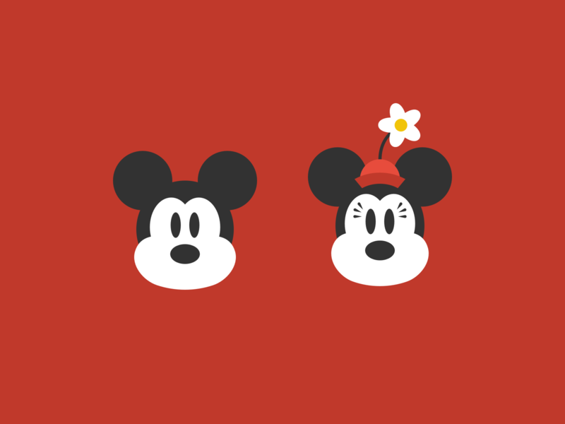 Mickey + Minnie icon disney minnie mouse mickey mouse