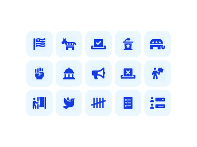 Political Icons font awesome flag poll vote protest icons politics