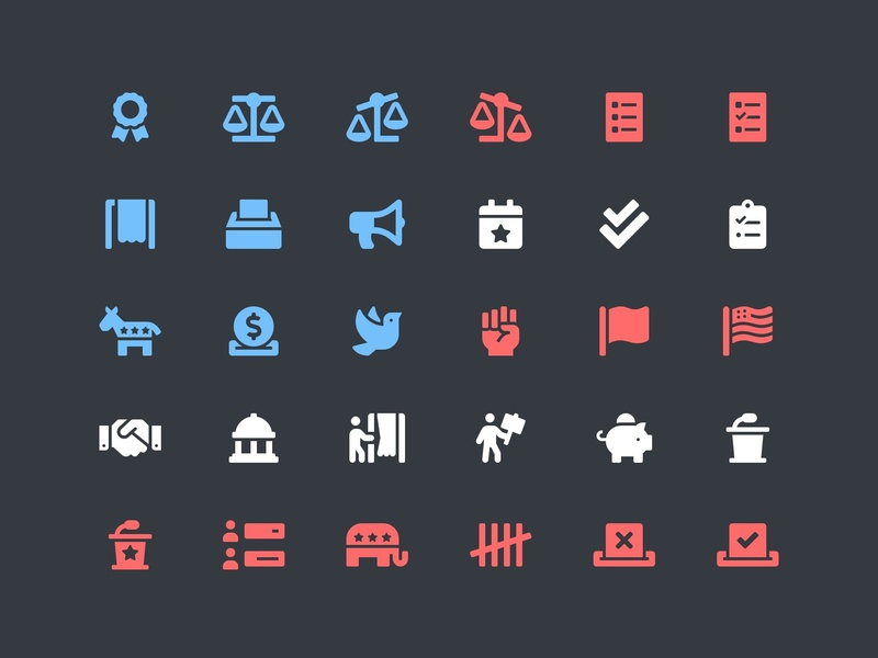 Vote! elections font awesome political vote icons