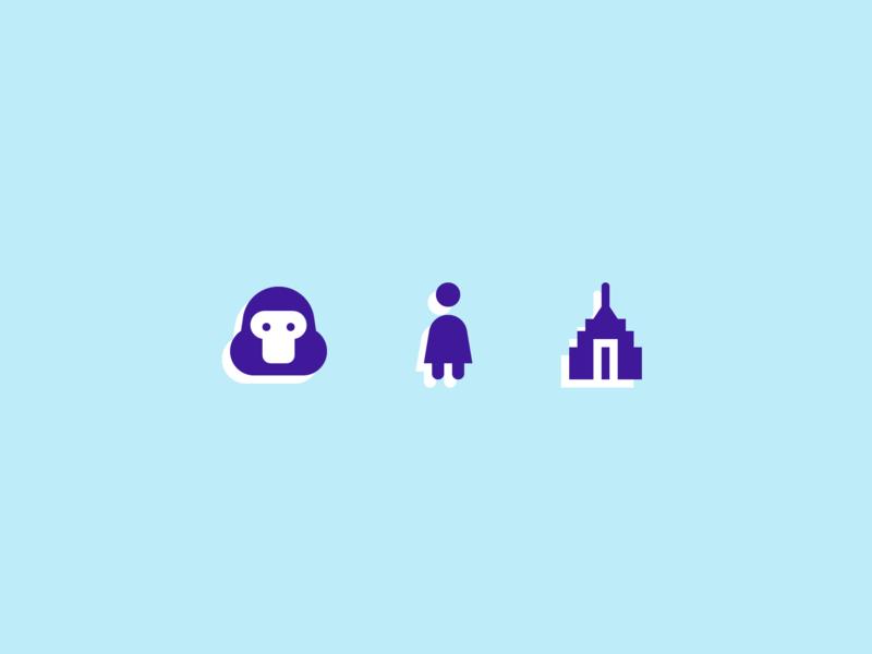 001. Gorilla, Woman, Skyscraper icon skyscraper empire state building woman gorilla year of icons symbolicons
