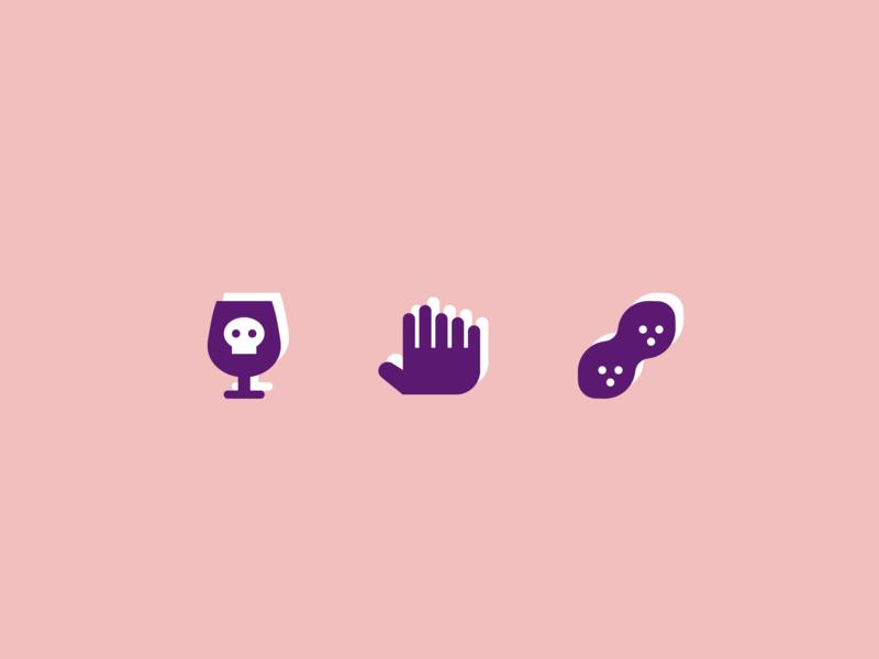 003. Poison Goblet, Six-Fingered Hand, Peanut peanut hand poison goblet icon symbolicons year of icons