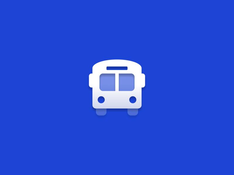 Bus symbol duotone gradient bus vector icon icons