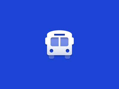 Bus symbol duotone gradient bus vector icon icons