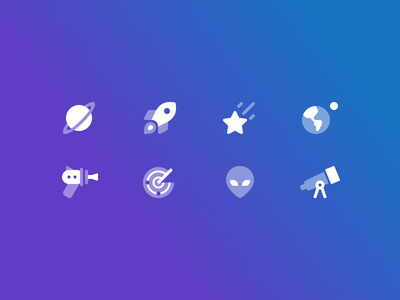 Science Fiction + Space Icons science fiction space symbols icon icons