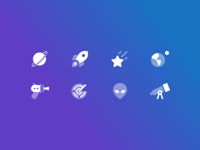 Science Fiction + Space Icons