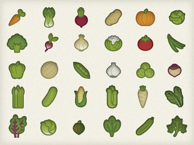 Veggie Icons, Final Draft