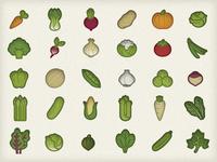 Veggie Icons, Final Draft