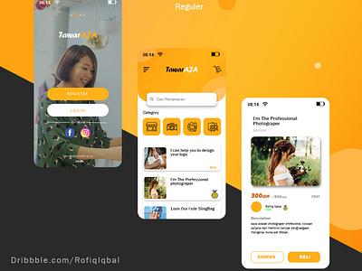 tawarin ajaj web app ux ui design branding