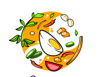 Vegie Logo vector minimal logo illustrator illustration flat icon branding design