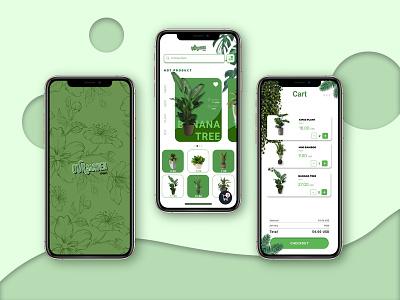 UI Mobile Plant animation web app minimal ui branding design