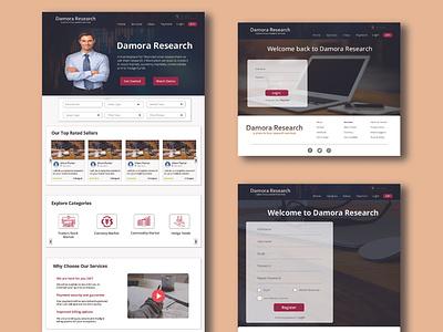 Damora Capital Website Design design creative design uidesign homepage design webpage design web uiux uiux web ui website webdesign