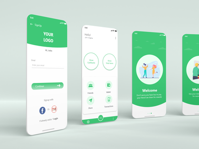 Intro App UI Design (Discount App) simple app ui design mobile ui branding ui design creative design uiux uidesign