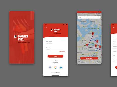 Fuel Mobile App   UI Design ux mobiledesign appdesign appui mobile app design ui uidesign creative design uiux