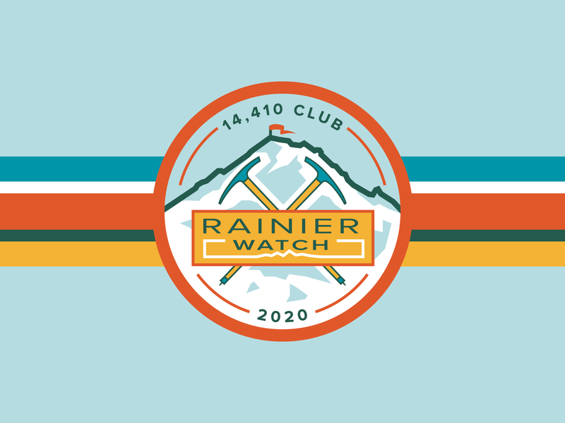 Rainier Watch Patch patch washington mountain badge branding vector illustration design