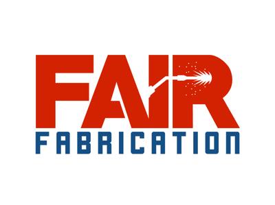 Fair Fabrication Alternate logo metal welding fabrication branding vector illustration design