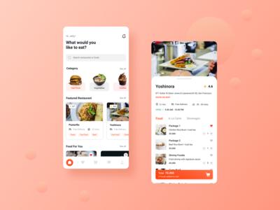 Mobile Food Delivery Apps ui design delivery clean order mobile ui mobile menu exploraion food details ui  ux uiux ui designer design app