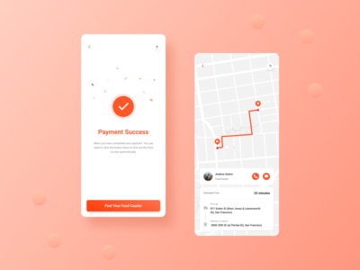 Mobile Food Delivery Apps clean branding clean ui call payment detail maps delivery food uiux ui design app mobile ui mobile