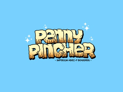 Penny Pincher logodesign brand design tshirt typography vector illustration logo artwork art bearings skateboards skate pincher penny