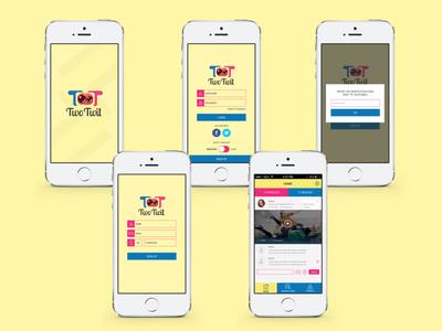 twotwit social app ui