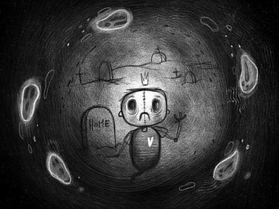 Lost soul spooky season spooktober spooky illustration art illustration