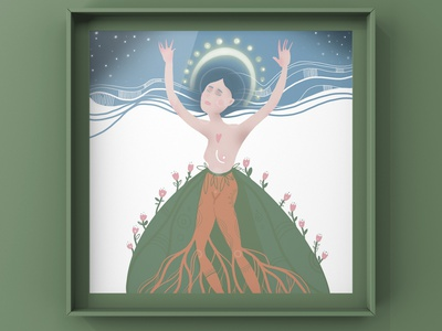 Goddess of the Earth book illustration illustration art illustration