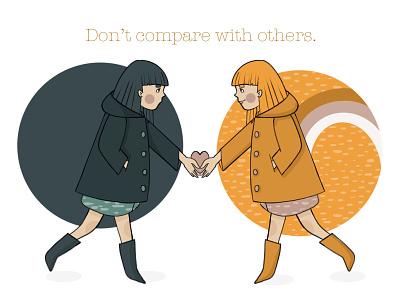 Be yourself. book illustration illustration art illustration